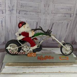 Santa on Chopper Motorcycle Raindeer Horn Musical